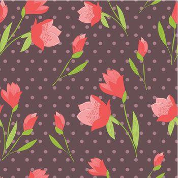 seamless flower retro background design pattern