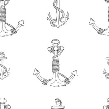 Anchors Seamless Pattern. Vector illustration EPS 10
