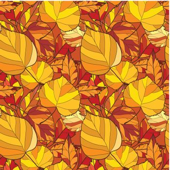seamless background with autumn leaves