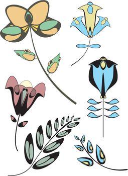 Original flowers decor collection for design