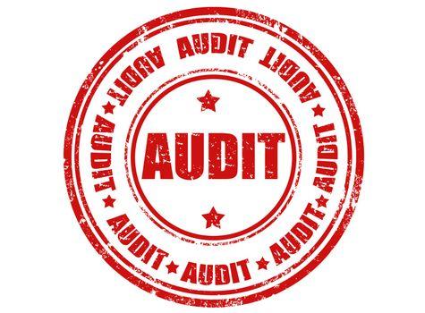 Grunge rubber stamp with word audit inside,vector illustration