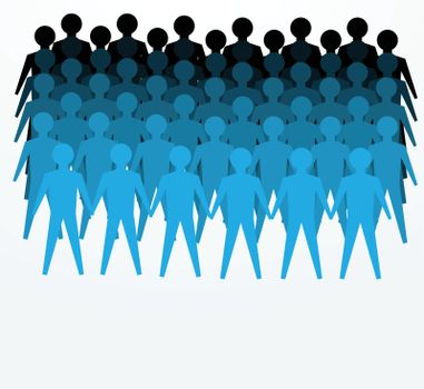 illustrations of crowd for public or unity concepts.