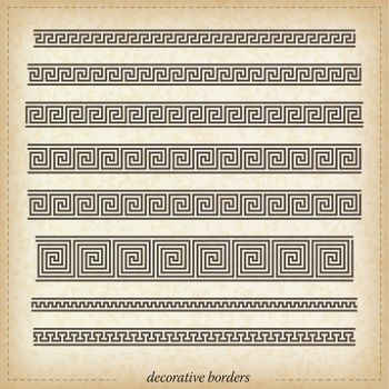 Seamless maze border. Simple to use vector elements.