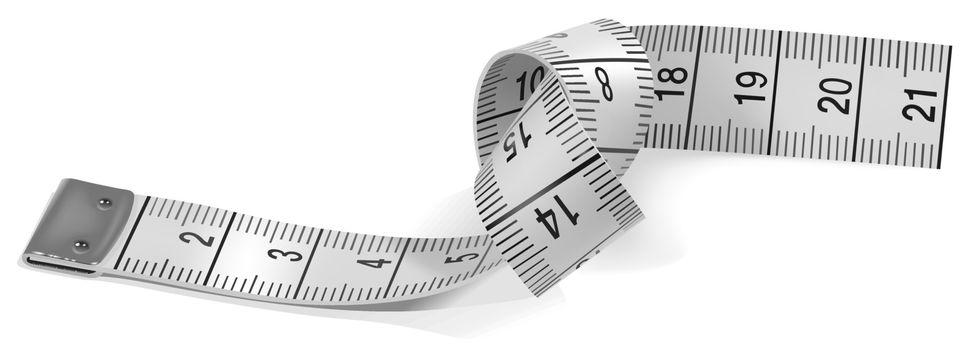 Measuring Tape - Colored Illustration, Vector