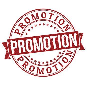 Promotion grunge rubber stamp on white, vector illustration
