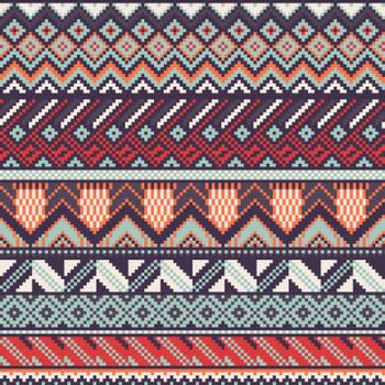Ethnic seamless pattern. EPS 10 vector illustration. Contains no transparency and blending modes.