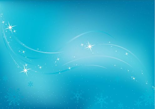 Frozen Background - Colored Abstract Illustration, Vector