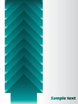 Arrow backdrop brochure design with gray background