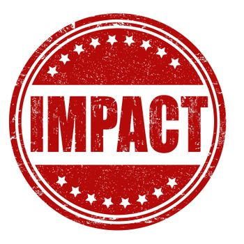 Impact grunge rubber stamp on white, vector illustration