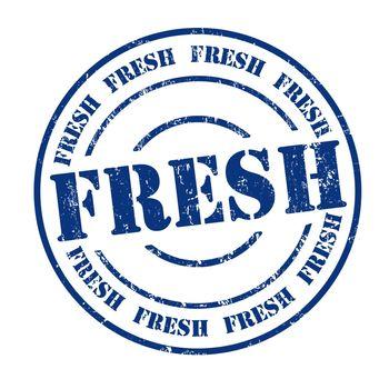 Fresh grunge rubber stamp on white, vector illustration
