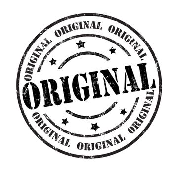 Original grunge rubber stamp on white, vector illustration