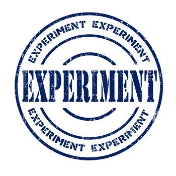Experiment grunge rubber stamp on white, vector illustration