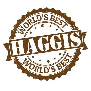 Haggis grunge rubber stamp on white, vector illustration