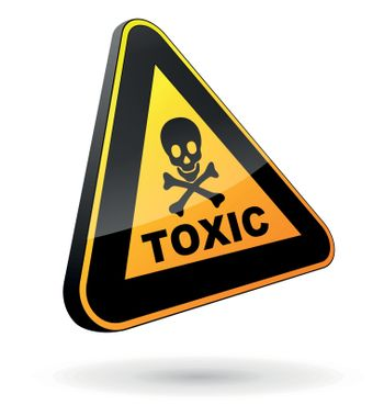 vector illustration of toxic sign on white background