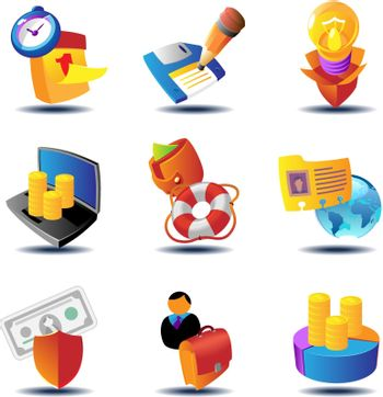 Business metaphor icons. Vector illustration concept.