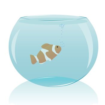 vector illustration of an aquarium