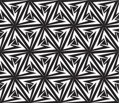 Aggressive Arrows Seamless Pattern. Vector Illustration