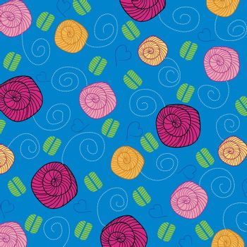 seamless background with flowers, vector illustration