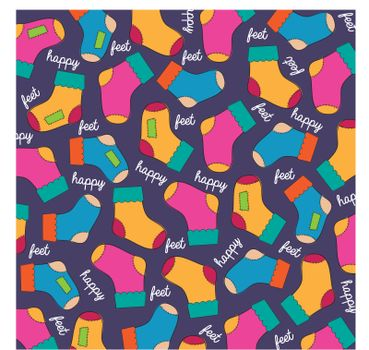 seamless background with socks, vector illustration
