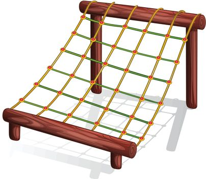 Illustration of a rope course