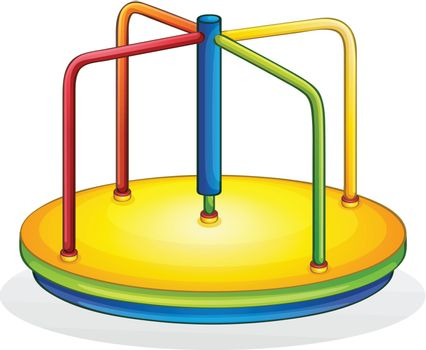Isolated illustration of play equipment - spinner