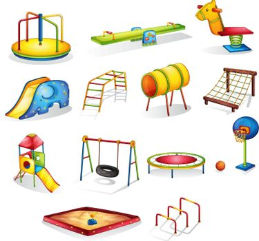 Collection of isolated play equipment
