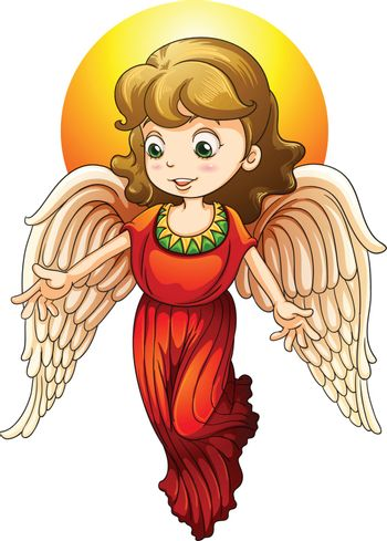 illustration of a fairy on a white background