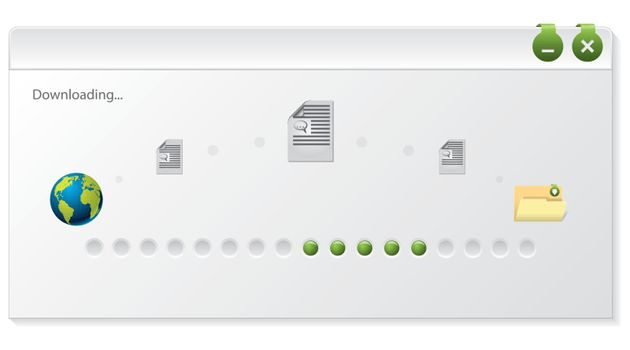 File download progress indicator window design on white background