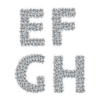 colorful illustration with gray letters  on a white background  for your design