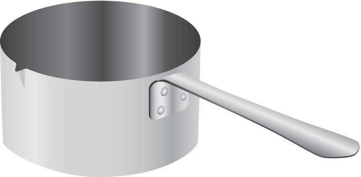 Steel beaker for culinary dosing. Vector illustration.