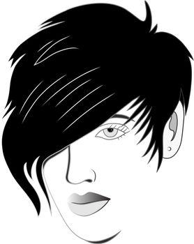 Hair style modern urban, art vector design