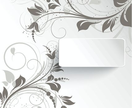 Abstract floral background for design