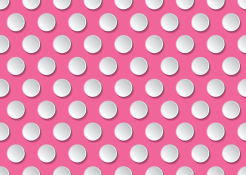 Flat cute circles in vintage style, seamless pattern