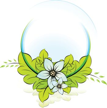 Green ECO icon template for your design