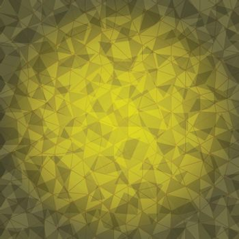 Design yellow triangle crack background, stock vector