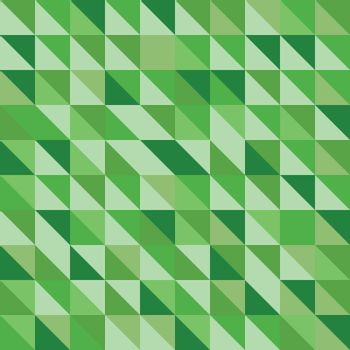 Retro triangle pattern with green background, stock vector