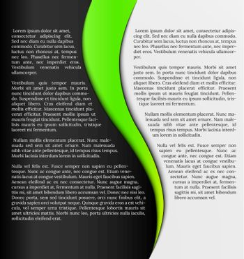 black and white infographic template with green element