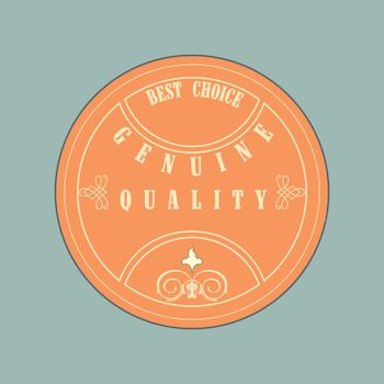 Retro style  badge, vintage collection. Genuine quality.