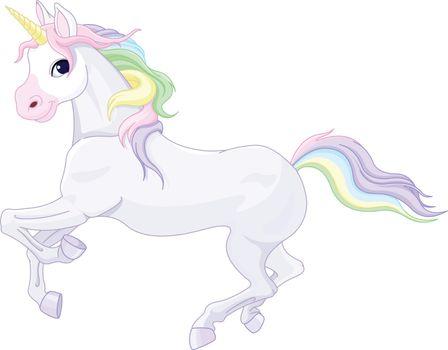 Illustration of very cute unicorn
