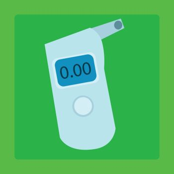 The breathalyzer device for measuring the alcohol in the exhaled air drivers