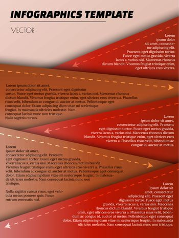 red infographic template with red elements and arrows