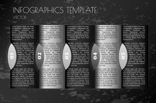 infographic template with white and black elements