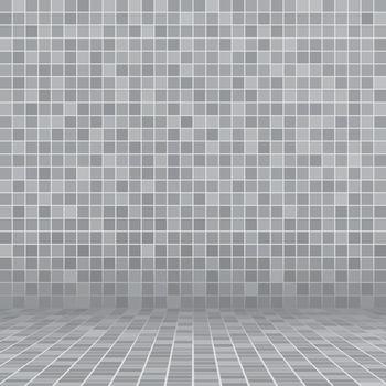 Gray ceramic tile mosaic in swimming pool