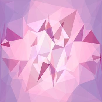 Crystal Pink  Background. Polygonal Pink Mosaic Pattern.
