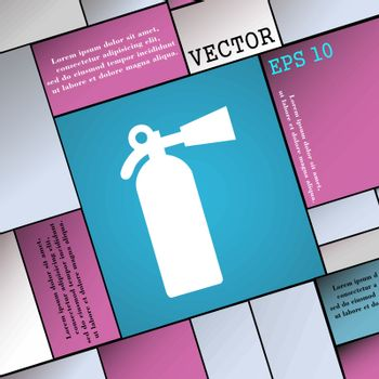 extinguisher icon sign. Modern flat style for your design. Vector illustration