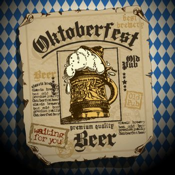 design of advertisements for the traditional Oktoberfest beer festival
