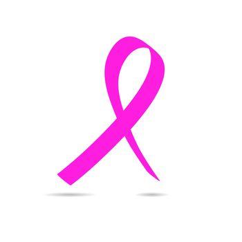 Pink ribbon symbol Breast Cancer Awareness Month