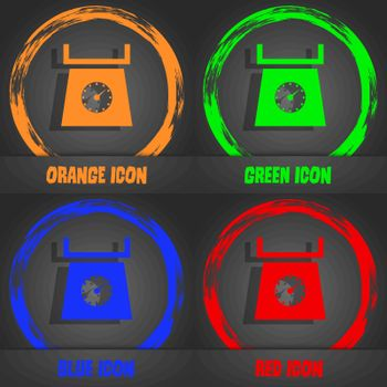 kitchen scales icon sign. Fashionable modern style. In the orange, green, blue, red design. Vector illustration