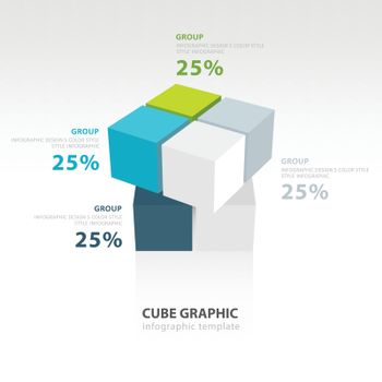 cube moving infographic template template