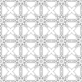 Ornamental Texture on White Background. Abstract Geometric Pattern